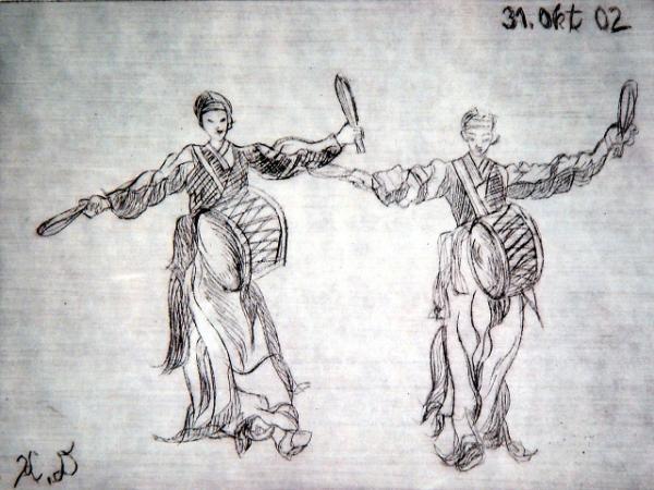 Koreanischer Trommeltanz