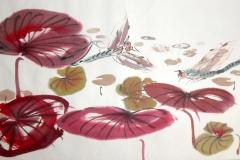 Seerosen im Frühling, 100X70cm